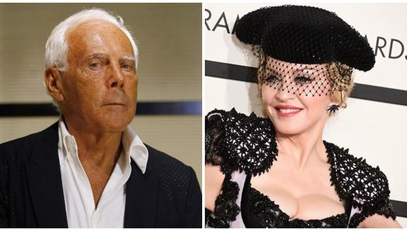 Giorgio Armani responde a Madonna que culpó a capa de su caída