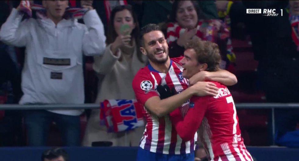 El Atlético de Madrid solo necesitó dos minutos para vencer la resistencia del Mónaco. Con un disparo de Koke empezó la fiesta rojiblanca en el Wanda Metropolitano. (Foto: captura de video)