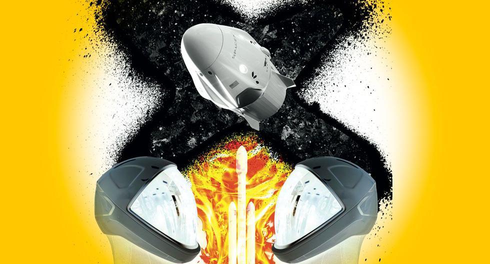 El Dragon Endeavour de SpaceX es una cápsula de 9 toneladas, con sitio para siete astronautas, que va montada en una base con cuatro pares de motores de cohete para avanzar y maniobrar una vez que está en vuelo orbital.  Tomás Unger nos brinda detalles sobre este aparato. (Ilustración: Raúl Rodríguez)