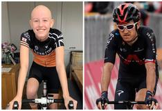 Evie Hartley, la ciclista de 13 años diagnosticada con cáncer que pudo entrenar al lado de su ídolo
