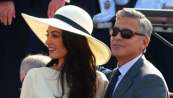 Publican las primeras fotos de la boda de George Clooney