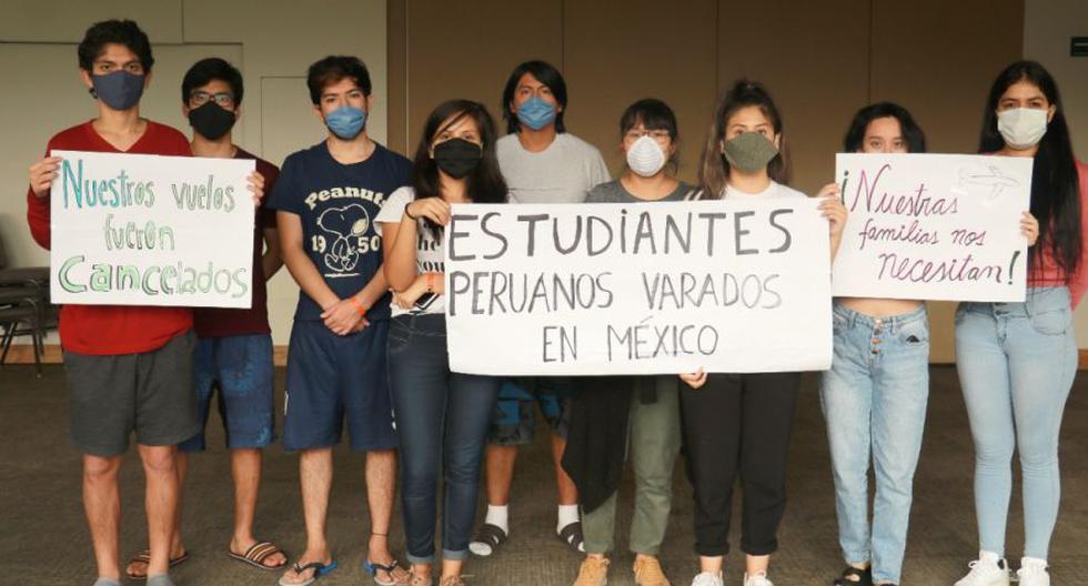 Un grupo de al menos 95 estudiantes universitarios peruanos varados en México durante la pandemia de coronavirus está a la espera de un vuelo humanitario. (Foto: Cortesía para El Comercio)