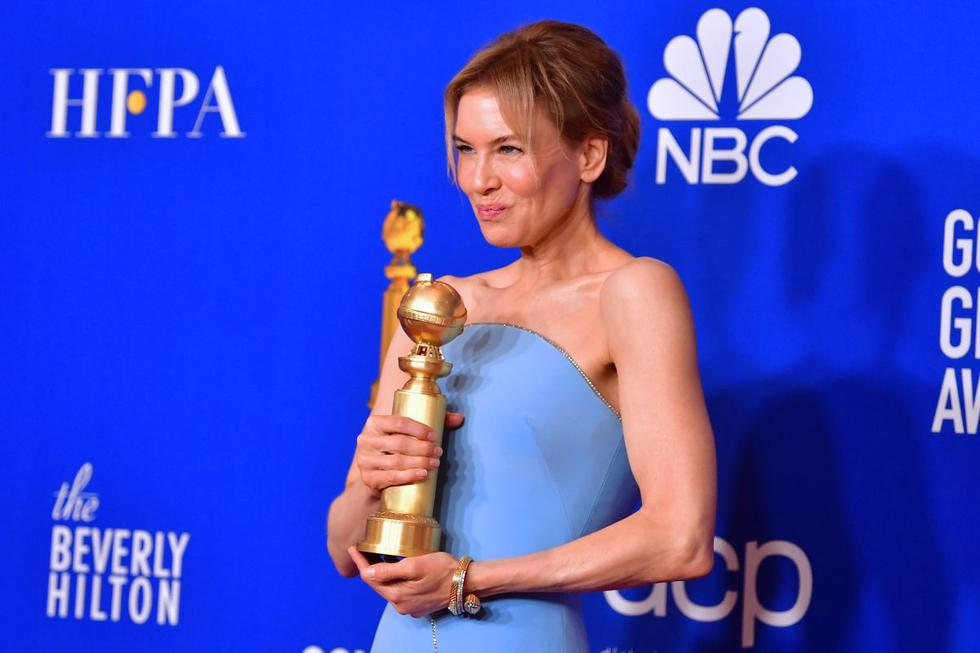 Renee Zellweger ganó en la categoría de Mejor actriz. (Foto: AFP)