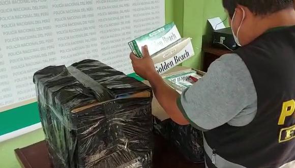 Cajas de cigarros eran de dos reconocidas marcas (Foto: PNP)