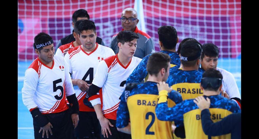 Lima 2019. Golbol masculino: Perú cayó 11-1 ante Brasil en el Coliseo Miguel Grau del Callao. (Foto: Daniel Apuy / GEC)