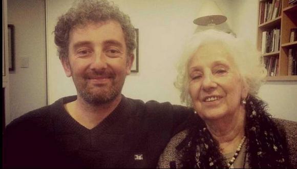 La primera foto de Estela de Carlotto y su nieto Guido
