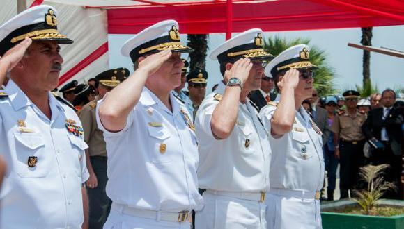 Grupo de vicealmirantes expresa su respaldo al gobierno sobre la promulgación de la Carta Límite Exterior-Sector Sur. (Foto: Archivo El Comercio)