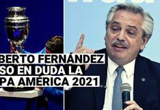 """Alberto Fernández: """"No quiero frustrar la Copa América pero hay que ser sensatos"""""""