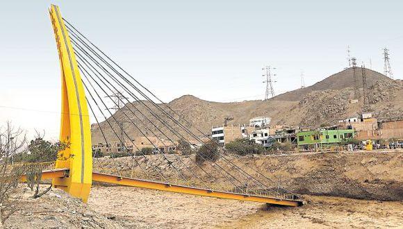 Puente cayó pese a que Rímac no llegó a caudal máximo histórico