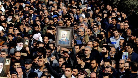 """""""La muerte del general Qasem Soleimani, líder de la Fuerza Quds, el grupo de élite del Cuerpo de la Guardia Revolucionaria Islámica de Irán, tras un ataque de dron de Estados Unidos el jueves es el acto de política exterior estadounidense más importante desde la invasión de Iraq en el 2003"""". (Foto: EFE)"""