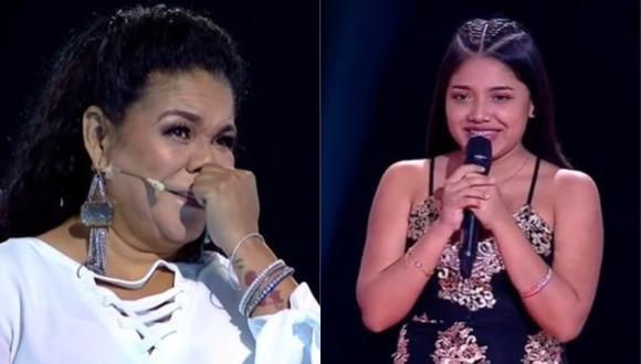 """Eva Ayllón se conmovió al reconocer a participante de """"La Voz Perú"""". (Foto: Captura de video)"""