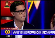 """Tony Succar es sorprendido por su madre en casting de """"La Voz Senior"""""""