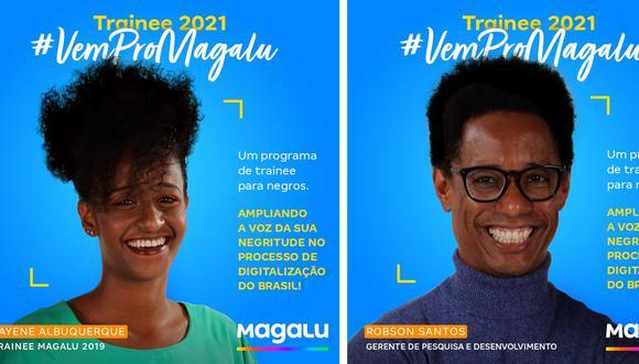 Dos anuncios que Magazine Luiza publicó en su página de Facebook.