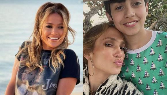 El pequeño Max acaba de cumplir 13 y sabe admirar perfectamente la belleza de su madre Jennifer Lopez. (Foto: @Jlo / Instagram)