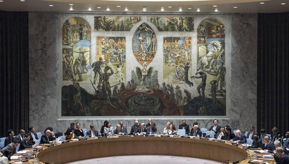 Vista general del pleno del Consejo de Seguridad de las Naciones Unidas. Imagen referencial del 2017. EFE