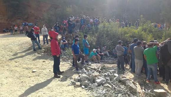 Trabajadores del campamento minero Ñuñabamba (en el distrito de Parcoy) aseguran que no están recibiendo medicamentos para el COVID-19.