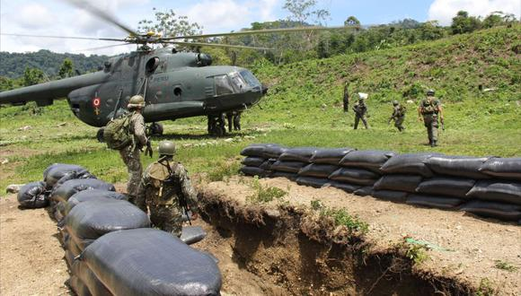 Un integrante del Ejército Peruano fue evacuado a Lima al ser impactado por una bala. (Foto: Andina).
