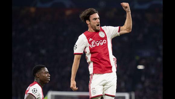 Nicolás Tagliafico es una de las grandes figuras que hoy milita en el Ajax. (Foto: AFP)