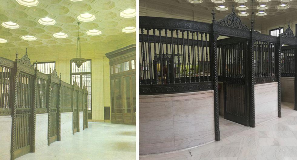 En el primer piso aún se mantienen las antiguas ventanillas de atención al público, como si fueran las cabinas de una prisión. (Foto: BCRP)