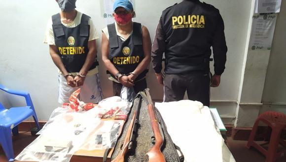 Miguel Troncoso Díaz y Hugo Sánchez Carbonell son investigados por el presunto delito contra la seguridad pública y tenencia ilegal de armas. (Foto: PNP)