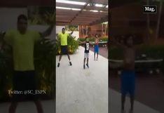 Thiago Silva entrena junto a sus hijos mientras pasa la cuarentena