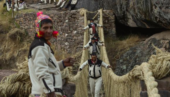 El viaducto, que tiene cinco siglos, forma parte del llamado camino inca. (Foto: AFP/ Gobierno regional de Cusco)