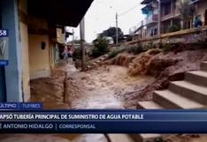 Tumbes: viviendas quedaron inundadas tras colapso de tubería de agua potable   VIDEO