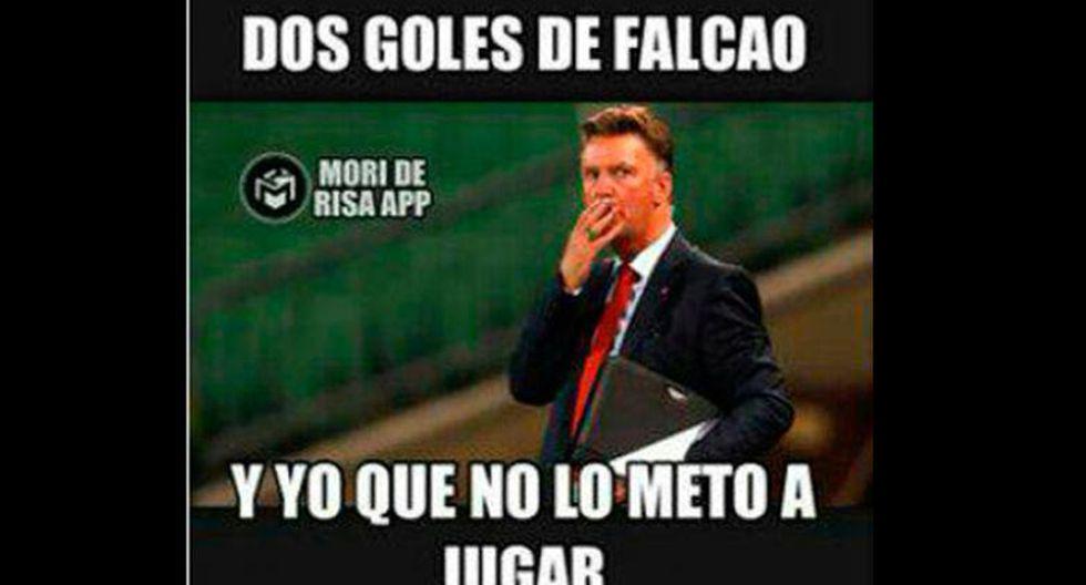 Van Gaal y los memes tras los dos goles de Falcao con Colombia - 10