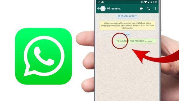 Así puedes eliminar un mensaje incluso luego de ser visto en WhatsApp. (Foto: MAG)