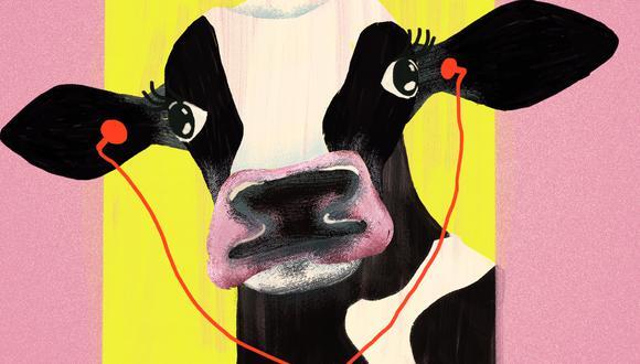 Vacas con 'playlist', por Pedro Suárez-Vértiz. (Ilustración: Nadia Santos)