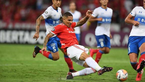 Paolo Guerrero fue elogiado por Damián Musto, su compañero en el Internacional de Porto Alegre. (Foto: @SCInternacional)