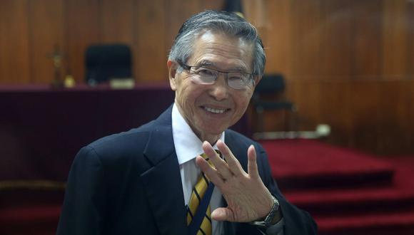 Alberto Fujimori fue internado en la clínica Centenario este sábado por un cuadro de arritmia. (Foto: EFE)