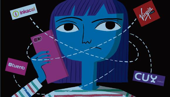 El 25% de la población peruana es joven, según el Inei. Dentro de ese grupo, el consumo de servicios móviles en la clase media se acerca a los US$500 millones al año. (Ilustración: Victor Aguilar)