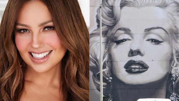 Thalía publicó un video en Instagram donde mostró cómo se transformó en la famosa actriz de Hollywood. (Foto: @thalia/Valery Hache/AFP)