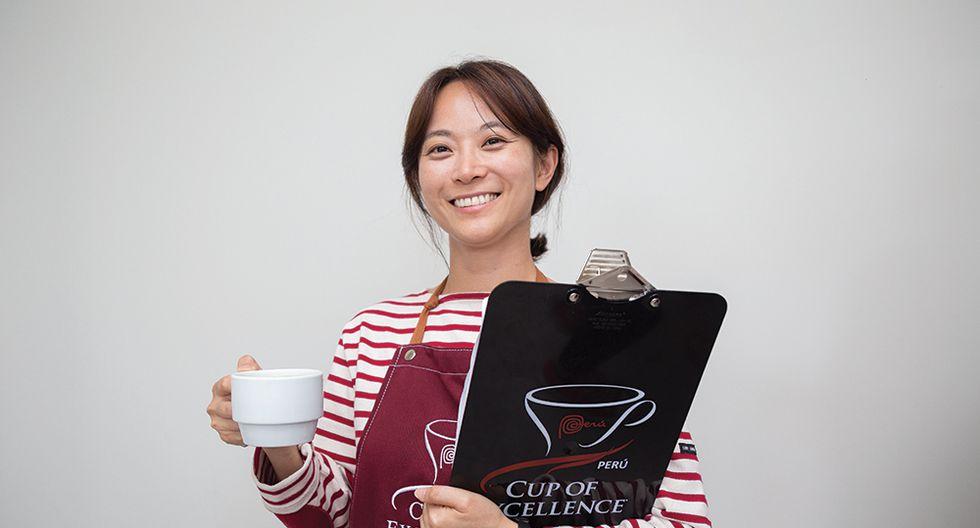 Jooyeon Jeon, la mejor barista del mundo, evalúa los mejores cafés del país en Taza de Excelencia Perú (Foto: Roger Aguilar / cafelab.pe)