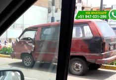 Chorrillos: permiten que autos bloqueen vía frente a comisaría