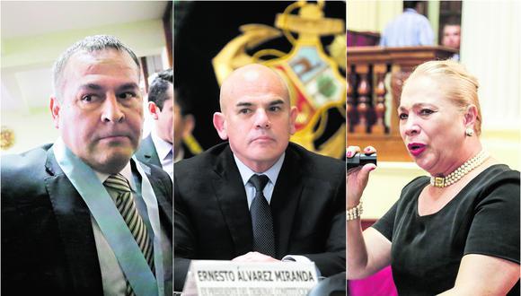Wilber Medina, Ernesto Álvarez y Carmela de Orbegoso son los tres candidatos al Tribunal Constitucional que suman la mayor cantidad de denuncias en el registro del Ministerio Público.