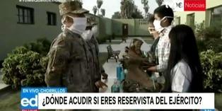 Coronavirus en Perú: Realizan llamamiento a las reservas del Ejército en Chorrillos