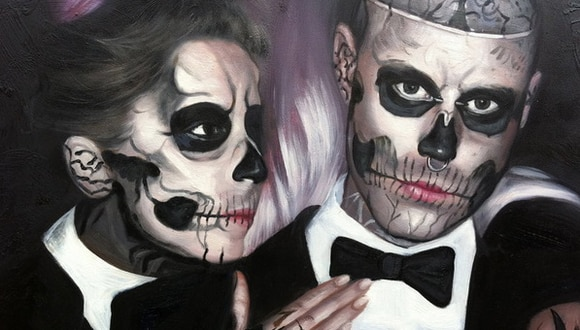 Lady Gaga y Zombie Boy (Foto: YouTube)