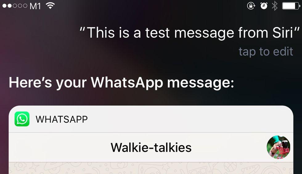 Puedes escribir un mensaje de WhatsApp con el asistente de voz (Foto: Mashable)
