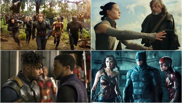 """Avengers: Infinity War"", ""Star Wars: The Last Jedi"", ""Black Panther"" y ""Justice League"" (Foto: Difusión)"