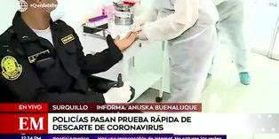Coronavirus en Perú: policías pasan por prueba rápida para descartar el Covid-19