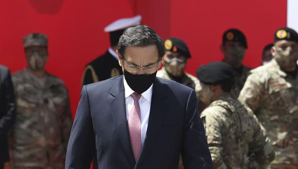 El expresidente Martín Vizcarra, ahora candidato al Congreso por Somos Perú, señaló que no confía en quienes conforman el actual poder del Estado. (Foto: Britanie Arroyo / GEC)