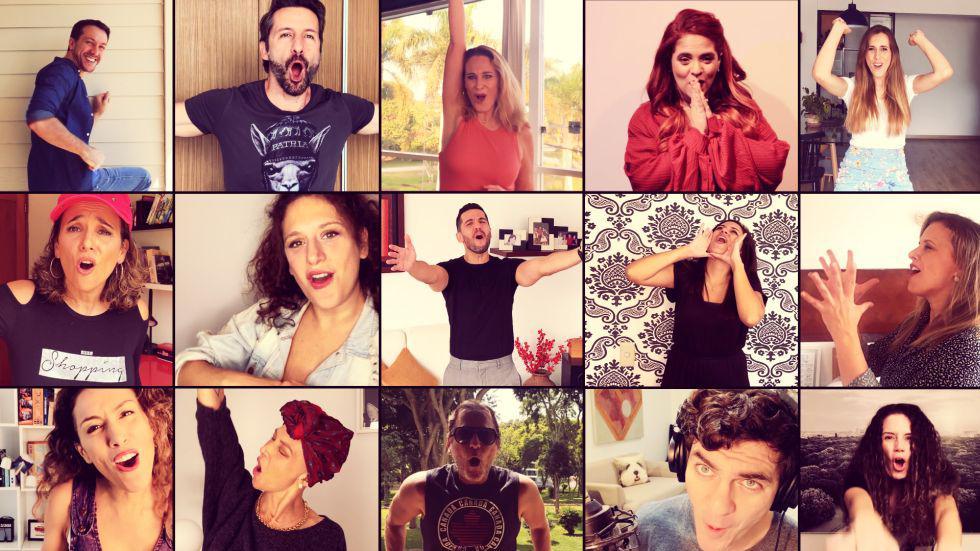 """Más de 20 artistas sumaron sus voces para interpretar """"Canta Fuerte"""", iniciativa gestionada y producida por Renato Bonifaz. (Foto: Difusióln)"""