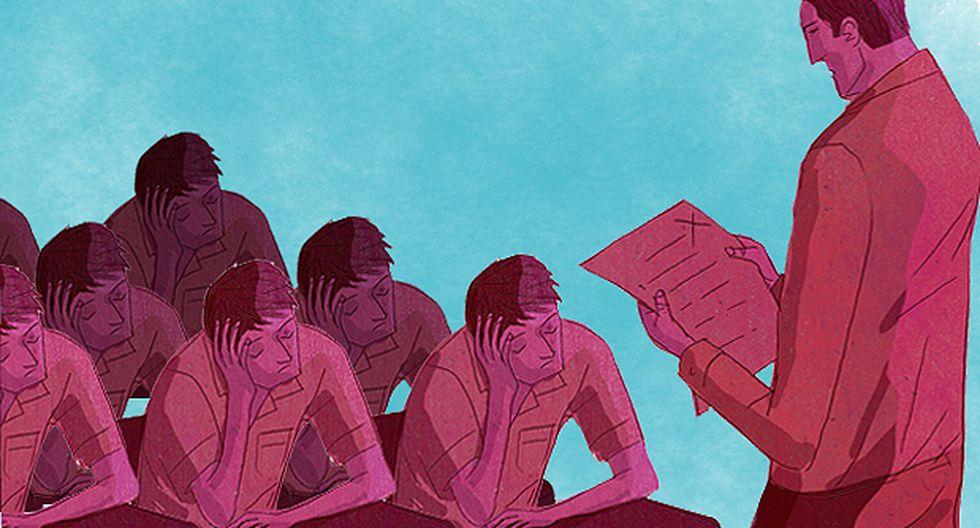 """""""El problema no se resuelve con más leyes o más psicólogos, se resuelve con tolerancia cero a la falta de respeto"""". (Ilustración: Víctor Aguilar)"""