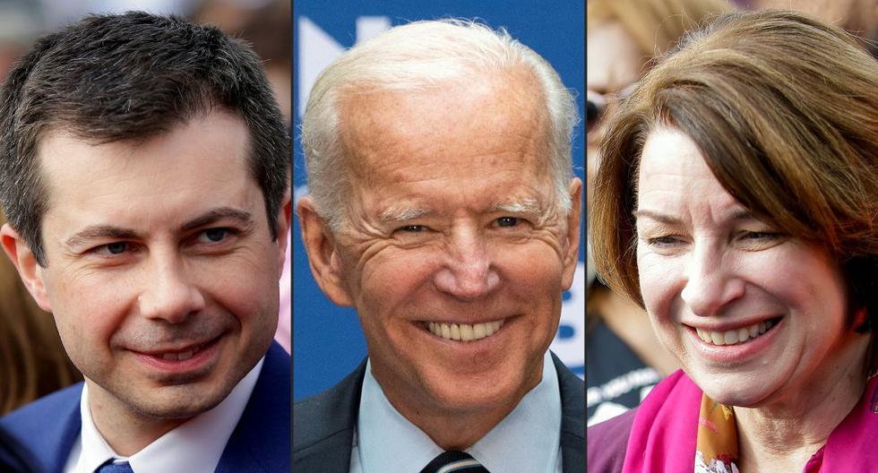 Ante de anunciar su apoyo a Biden, Buttigieg suspendió el domingo su campaña, mientras que Klobuchar lo hizo el lunes. (AFP)
