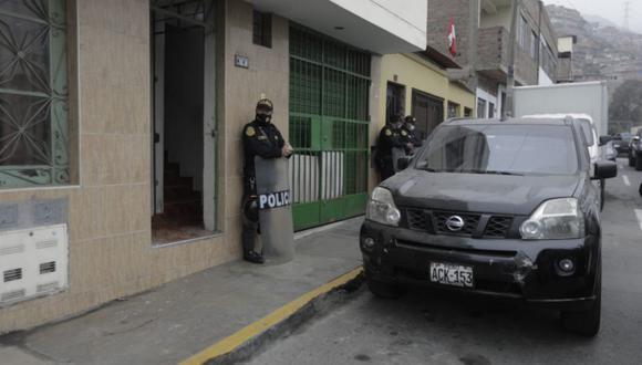 El allanamiento a la casa del alcalde de Independencia se realizó en horas de la madrugada de hoy miércoles 22 de septiembre | Foto: Anthony Niño de Guzmán / @photo.gec