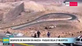 Ica: Despiste de bus deja 27 muertos en carretera Nazca - Puquio