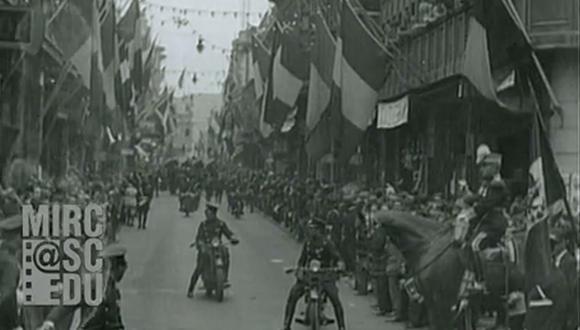 Visita del presidente estadounidense Herbert Hoover al Perú en 1928. (Captura mirc.sc.edu)<br>