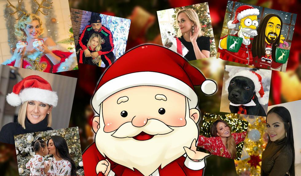 Desliza para que veas las imágenes publicadas por famosos en esta Navidad. (Composición de Mag con fotos tomadas de Instagram)